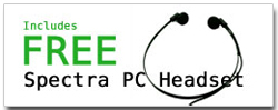 Free Spectra PC Headset with purchase